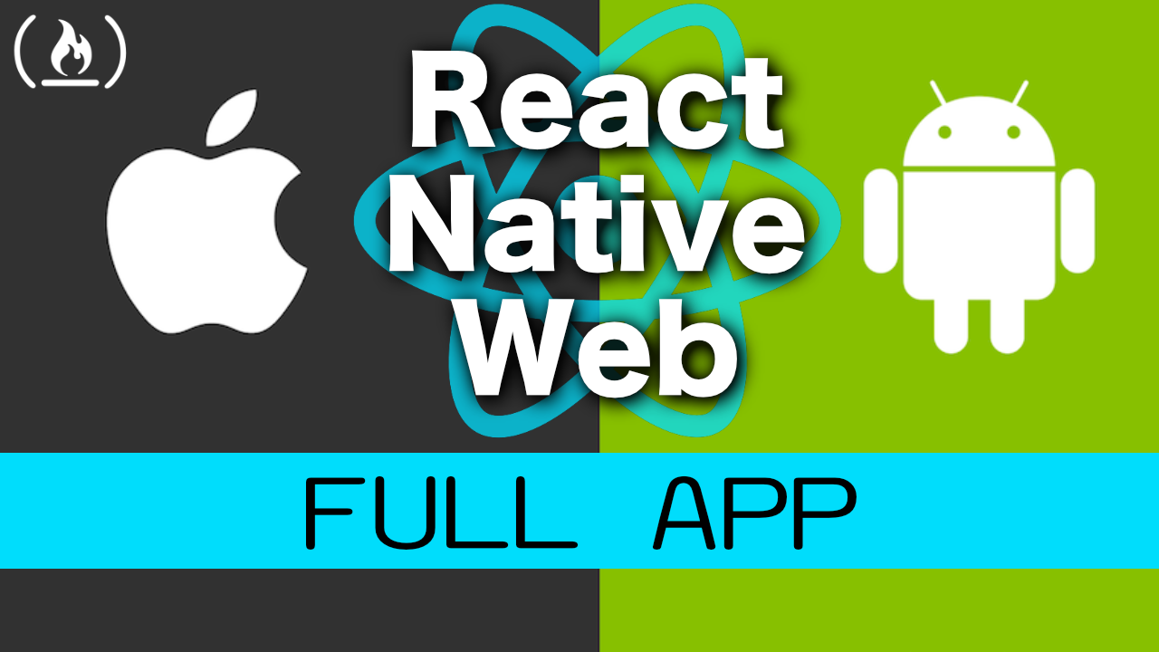 React Native Course: how to build an iPhone app, Android app, and website - all with the same codebase