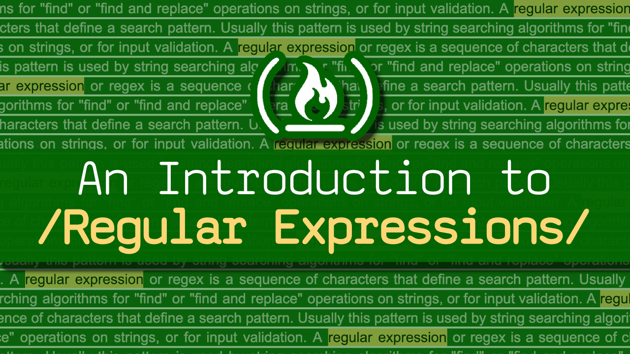 Learn regular expressions in this free crash course