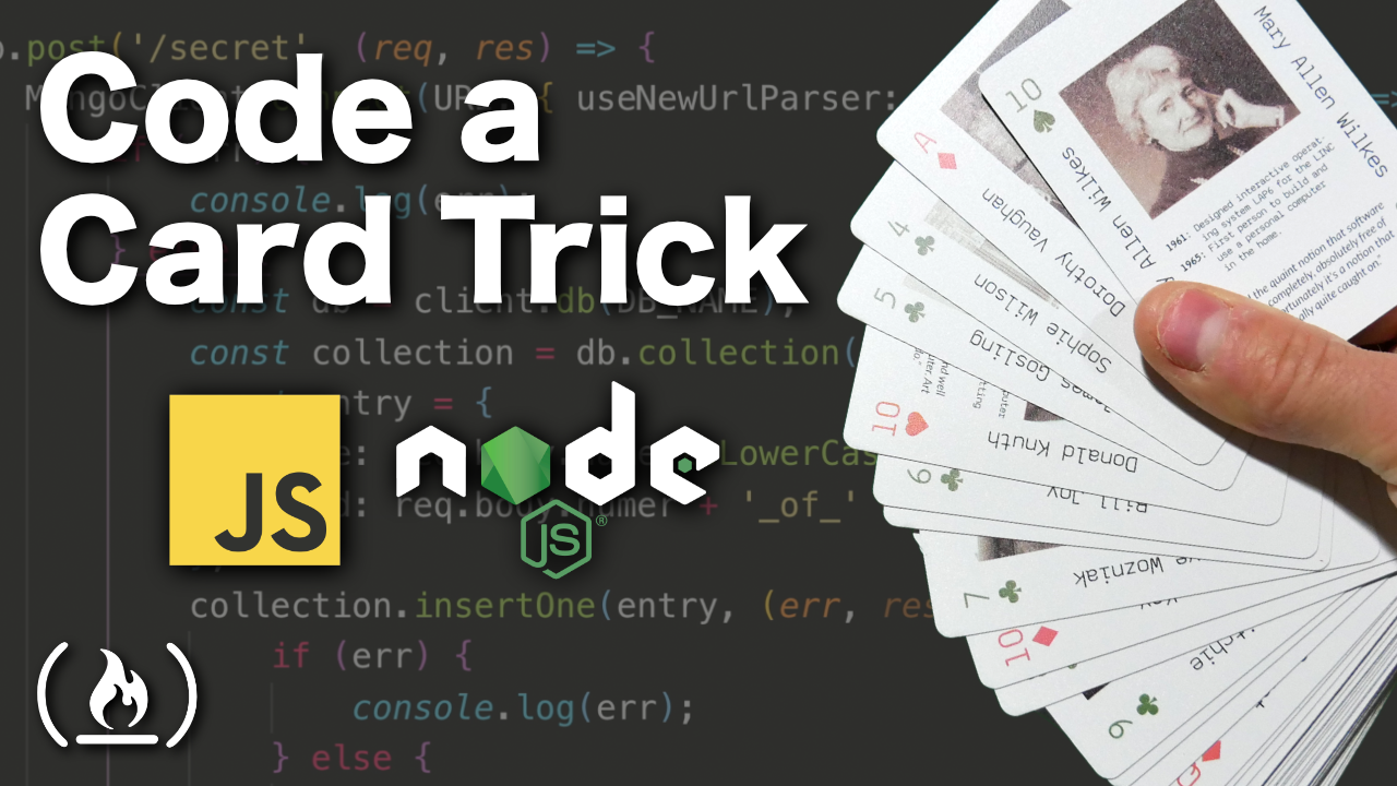 Code a magic card trick with JavaScript and Node.js