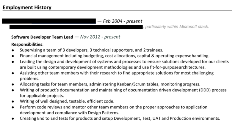 How To Write A Software Engineering Resume CV The