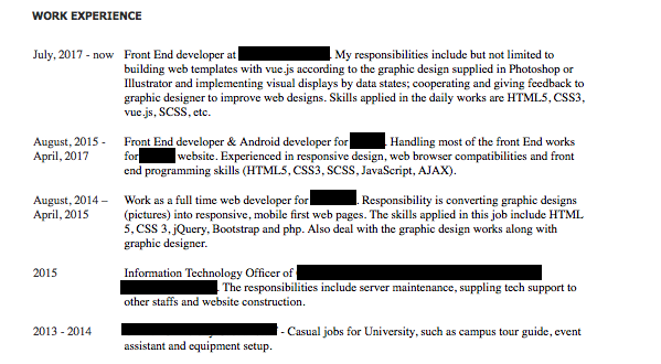 How to write a Software Engineering resume (CV): the