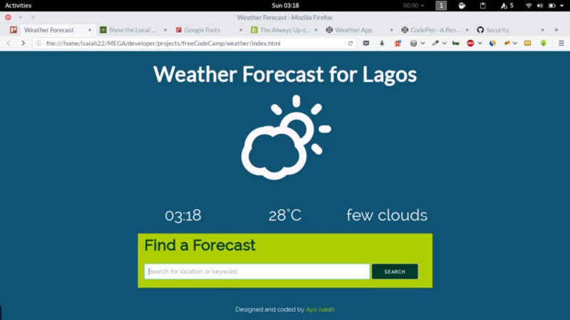 Building a Weather App