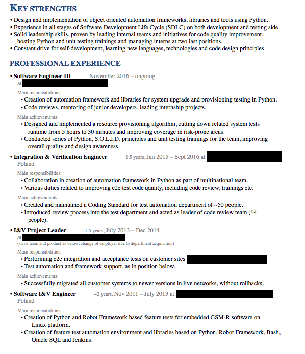 How To Write A Software Engineering Resume Cv The Definitive Guide Updated For 2019
