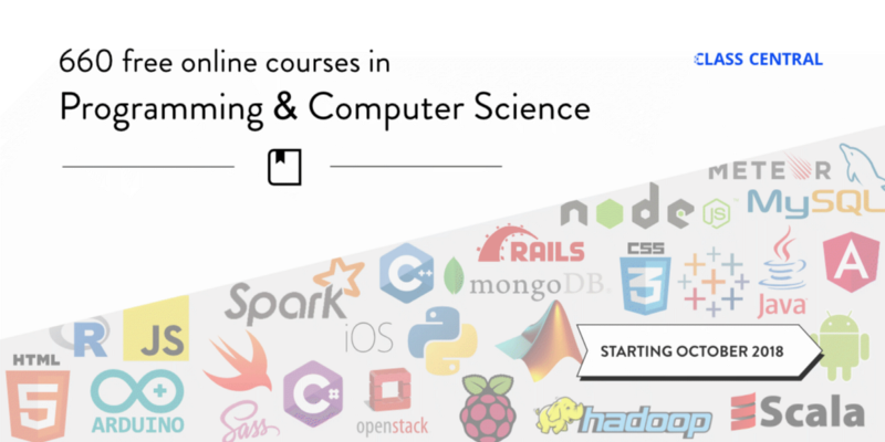 660 Free Online Programming & Computer Science Courses You Can Start in October