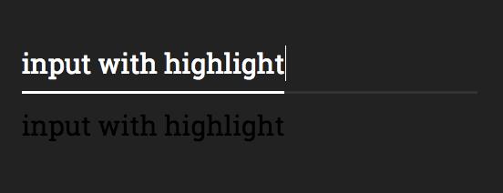 Text input highlight, TripAdvisor style