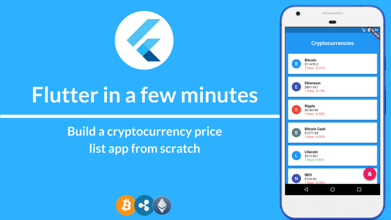 How to build a Cryptocurrency price list app using Flutter SDK