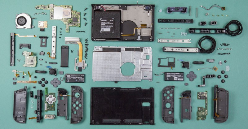 Tearing apart a Nintendo Switch to see what it's made of