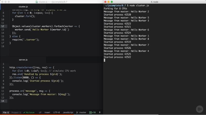 Scaling Node js Applications