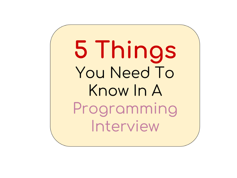 5 things you need to know in a programming interview