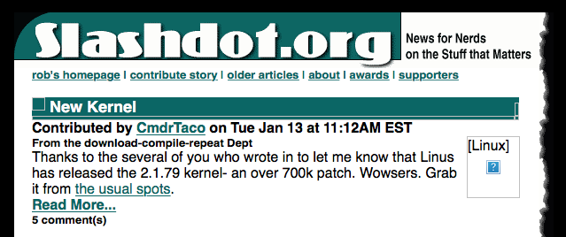 A Pre-History of Slashdot on its 20th Birthday