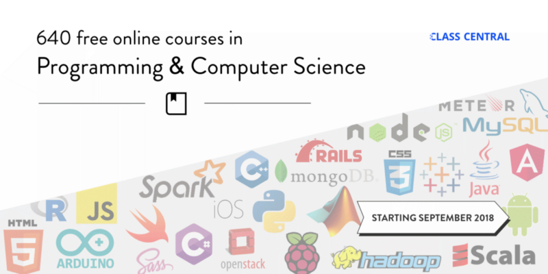 640+ Free Online Programming & Computer Science Courses You Can Start in September