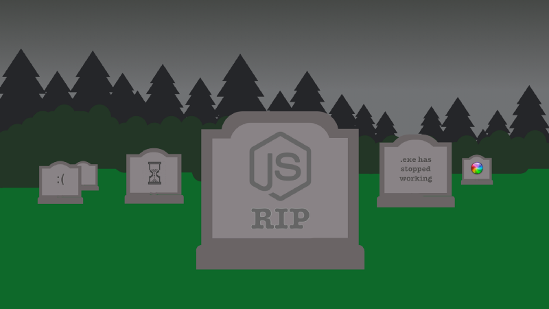 You should never ever run directly against Node js in production  Maybe