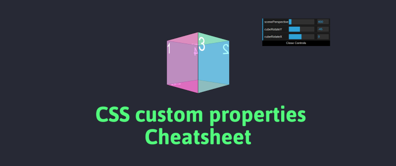 A cheatsheet to help you remember CSS custom properties