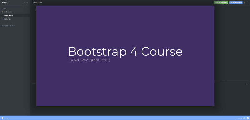 Learn Bootstrap 4 in this free 10-part course