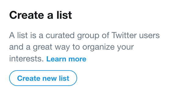 How I automatically created a Twitter List of