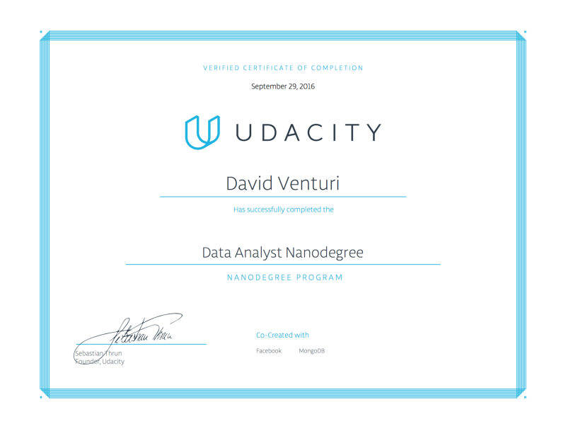 Review: Udacity Data Analyst Nanodegree Program