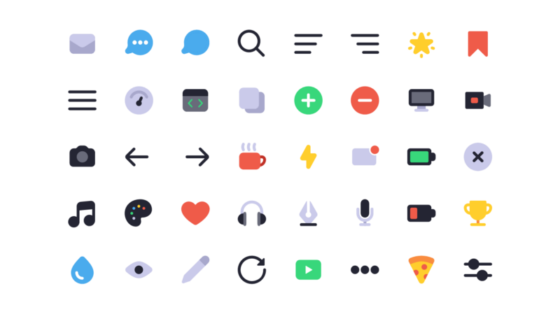 Let's make multi-colored icons with SVG symbols and CSS variables