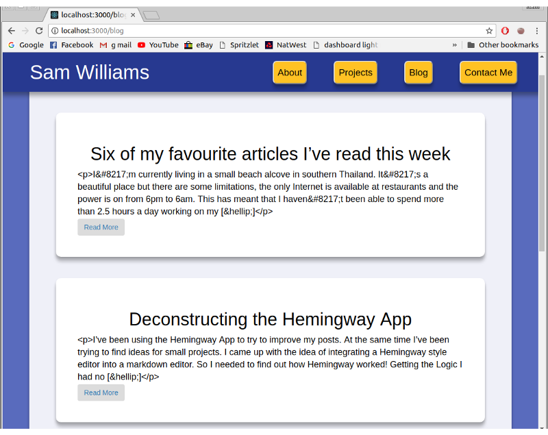 Get a blog on your website with React and WordPress API