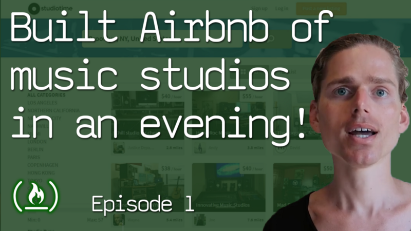 How I built the Airbnb of music studios in a single evening