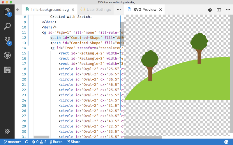 Things you need to know about working with SVG in VS Code