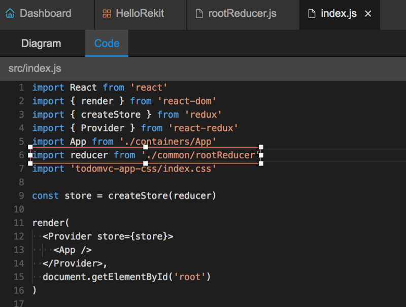 Learn how to use Rekit Studio in an existing React project