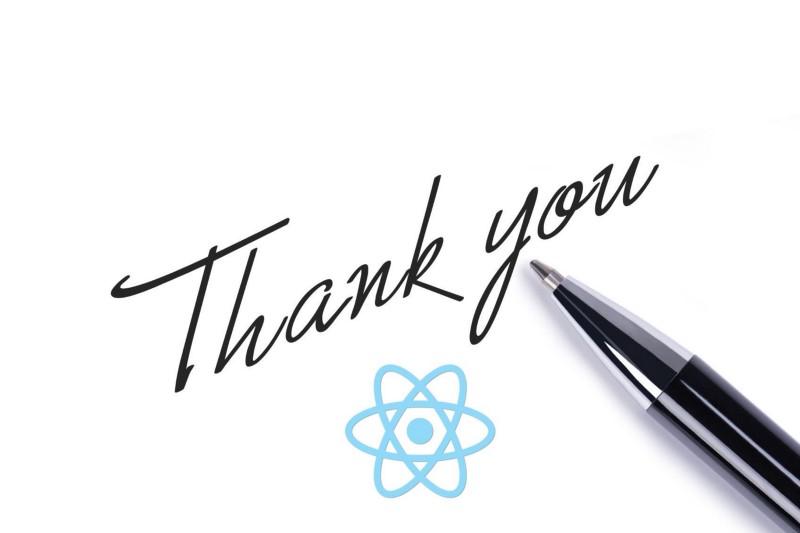 Dear React: A thank you letter