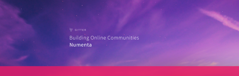 Building online communities: Numenta