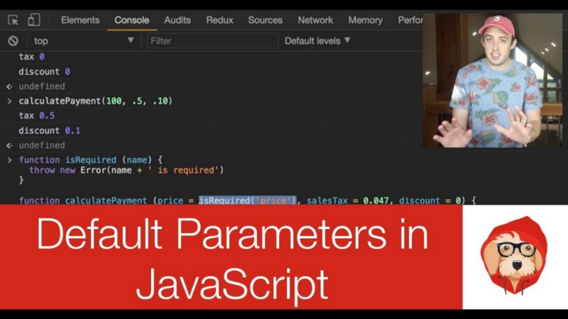 How Default Parameters work in JavaScript ES6
