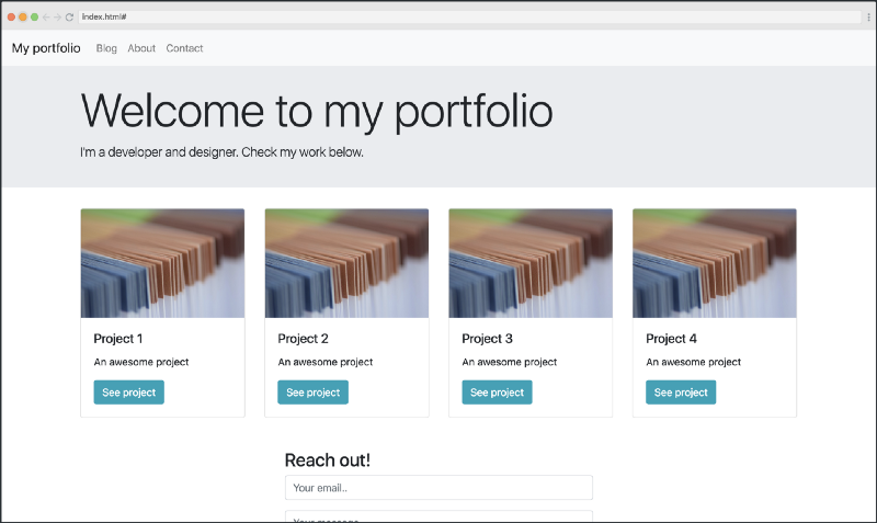 Bootstrap Tutorial: Learn to build first Bootstrap 4 site