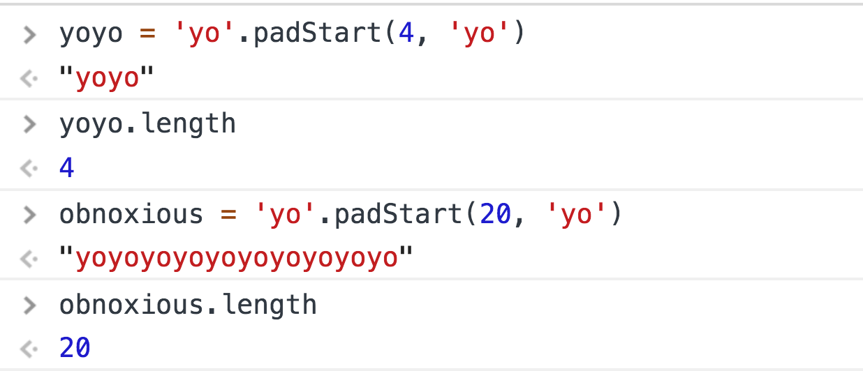 How does String padStart actually work?