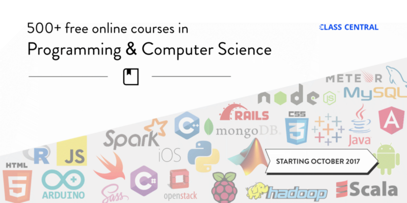 500 Free Online Programming & Computer Science Courses You Can Start in October