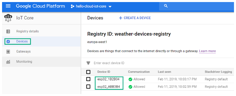 How to check the weather using GCP-Cloud IoT Core with ESP32
