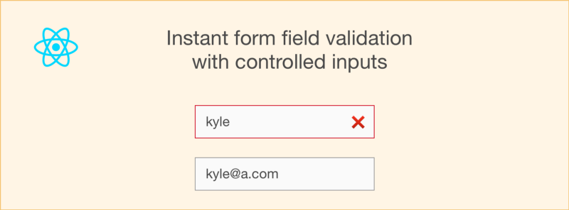 How to use React's controlled inputs for instant form field