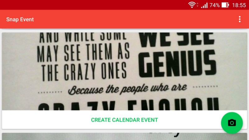 Snap Event: How you can now create calendar events just by taking a picture
