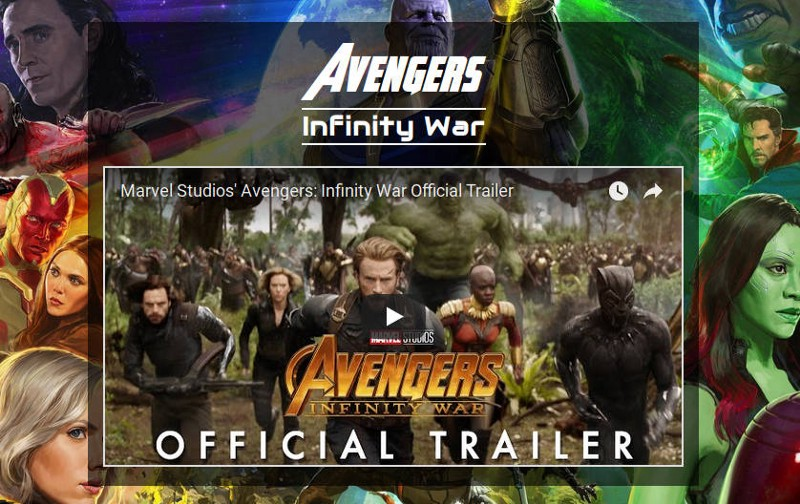 How To Make A Poster For Avengers Infinity War In Html And Css