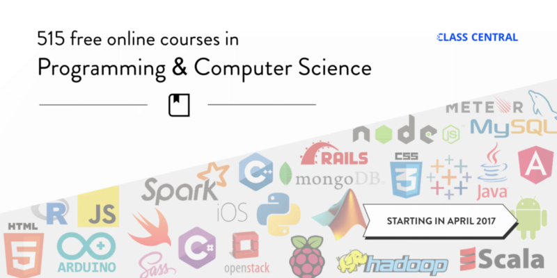 515 Free Online Programming & Computer Science Courses You