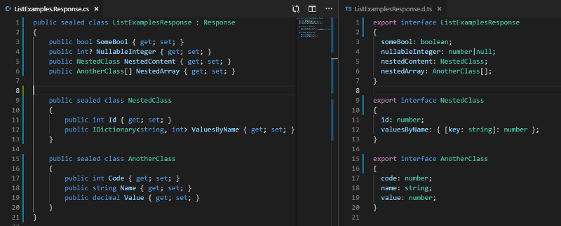 The easy way to get TypeScript interfaces from C#, Java, or Python code in any IDE