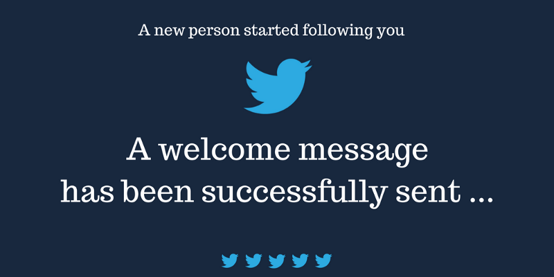 How to create your own auto direct message Twitter bot for free ?
