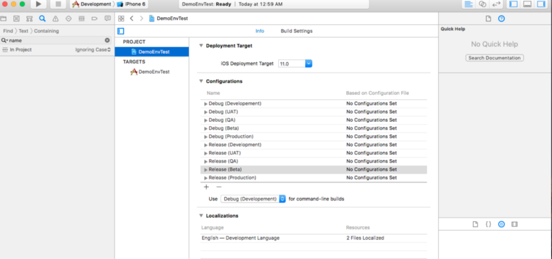 How to manage different environments and configurations for iOS projects
