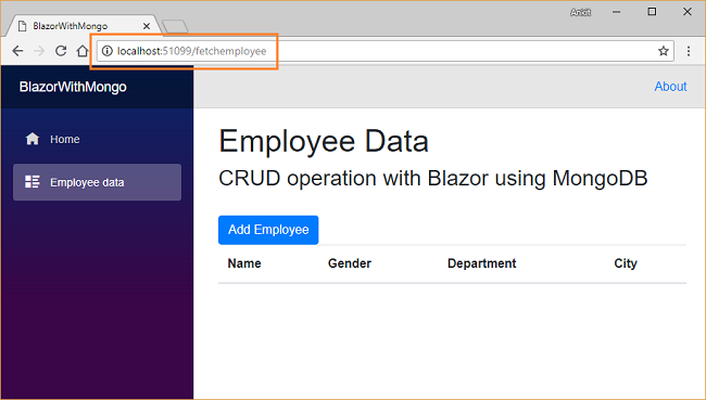How to perform CRUD operations using Blazor with MongoDB