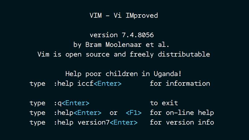 linux vim create new file
