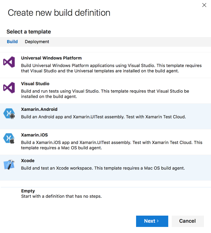 How to use Visual Studio Team Services for iOS native apps