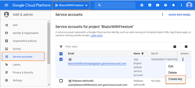 How to perform CRUD operations using Blazor and Google Cloud