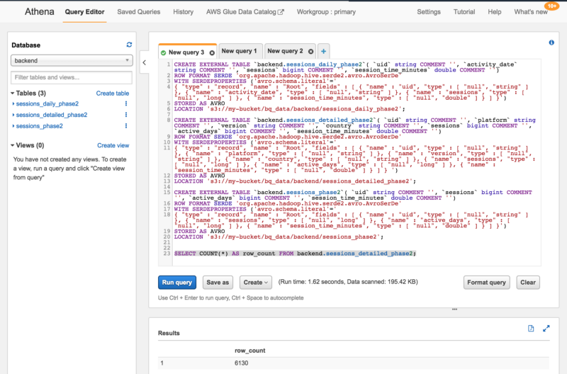 How to import Google BigQuery tables to AWS Athena