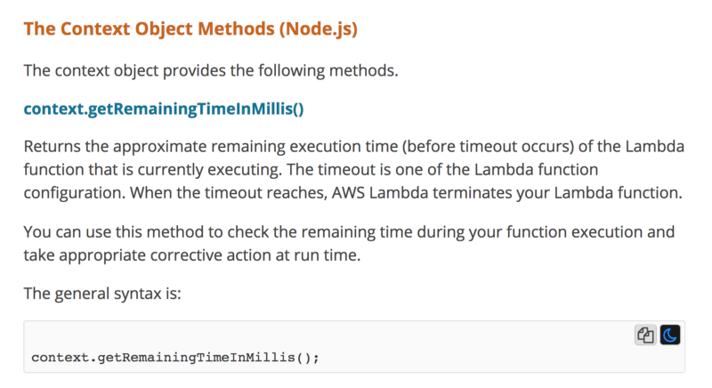 How to set timeouts dynamically using Lambda invocation context