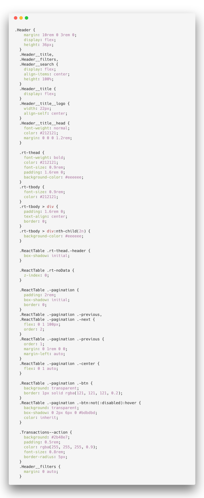 React Table Pagination