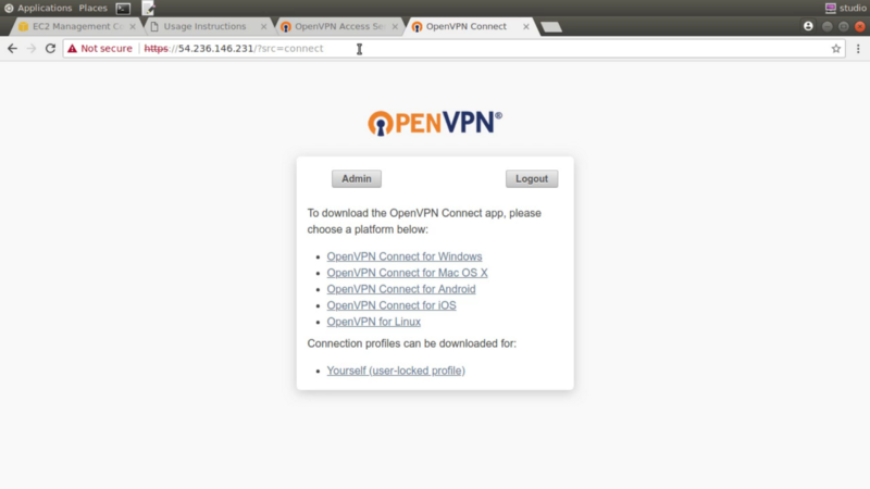 How you can use OpenVPN to safely access private AWS resources