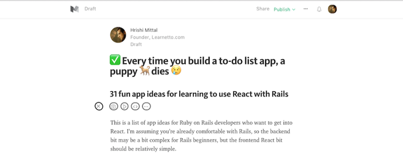 ✅ Every time you build a to-do list app, a puppy ? dies ?