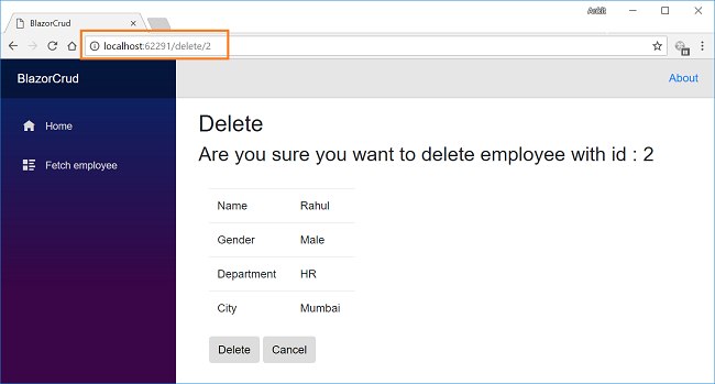 How to create an application using Blazor and Entity