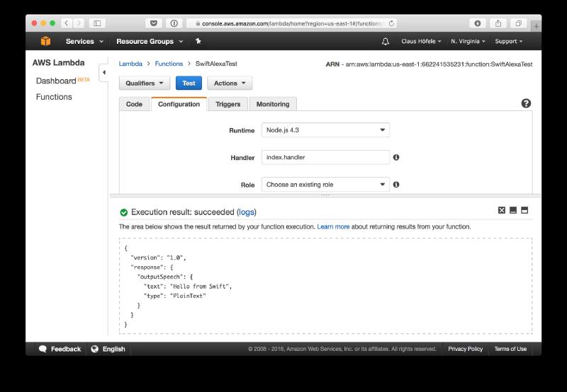 Building Alexa Skills in Swift